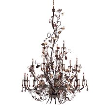<strong>Elk Lighting</strong> Cristallo Fiore 18 Light Candle Chandelier