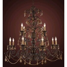 Trump Home Rochelle 12 Light Candle Chandelier