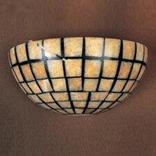 Stone Mosaic 2 Light Wall Sconce