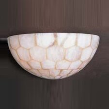 Spanish Mosaic 2 Light Half Moon Wall Sconce