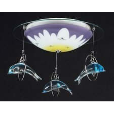 Novelty Dolphin Semi Flush Mount