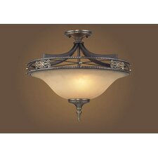 Georgian Court 3 Light Semi Flush Mount