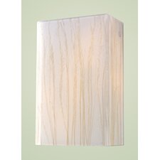 Modern Organics 2 Light Wall Sconce with Sawgrass Shade