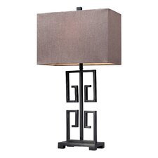 """Greek Large Key 26"""" H Table Lamp with Rectangle Shade"""