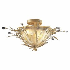 Circeo Vetro Semi Flush Mount