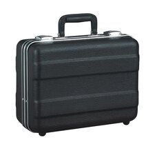 Heavy-Duty Polyethylene Case with Parallel Rib Pattern in Black: 10.5 x 14.13 x 6