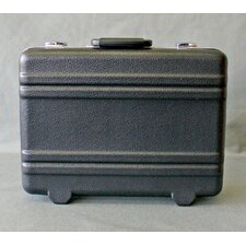 Heavy-Duty Polyethylene Case with Parallel Rib Pattern without Foam in Black: 12.5 x 17.25 x 6