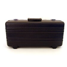 Heavy-Duty Polyethylene Case with Parallel Rib Pattern without Foam in Black: 10 x 22 x 6