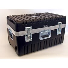 Heavy-Duty ATA Case with Wheels and Telescoping Handle in Black: 16.25 x 27.5 x 15.25
