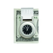 """Financier"" Money Clip with Clock"
