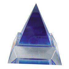 Blue Pyramid with Clear Base Award