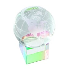 """Prism Cube"" Globe and Base Award"