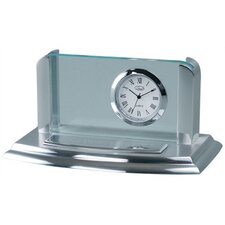 Business Card Holder Desk Clock
