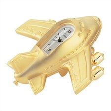 Mini Jumbo Jet Clock in Gold
