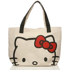 Hello Kitty Canvas Face Tote Bag