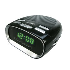 <strong>Jensen</strong> Phone Charging Dual Alarm Clock Radio