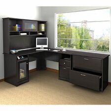 <strong>Bush Industries</strong> Cabot L-Desk with Hutch and Lateral File