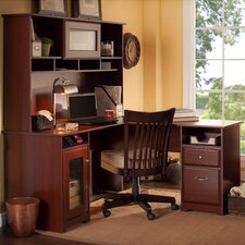 Cabot L-Desk with Hutch and Lateral File