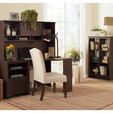 Buena Vista Corner Desk with Hutch and 6-Cube Storage Bookcase