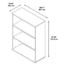 "BBF 48"" 3 Shelf Bookcase"