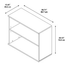 "BBF 29.13"" 2 Shelf Bookcase"