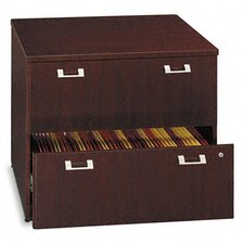 Quantum Series 2-Drawer Lateral File, 35-3/4w x23-1/2d x 30h, Harvest CY