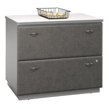 2-Drawer Lateral File, White Spectrum/Pewter