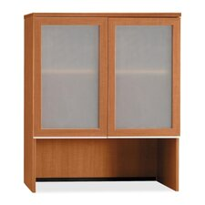 <strong>Bush Industries</strong> Milano 2 Bookcase Hutch with Glass Doors