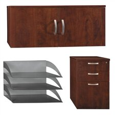 <strong>Bush Industries</strong> Office-in-an-Hour - File, Hutch, Paper / Pencil Storage Kit