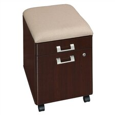 Quantum 2-Drawer Mobile Pedestal with Cushion