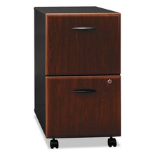 "2-Drawer Mobile Vertical File, 28-1/4"" High, Hansen Cherry/Galaxy"