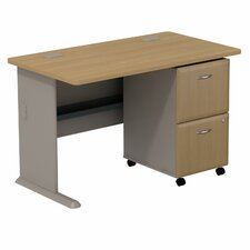 Series A Computer Desk with 2 Drawer File