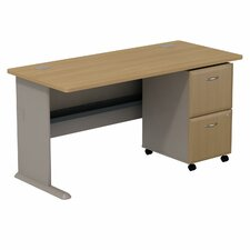 Series A Desk with 2 Drawer File