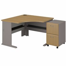 Series A Left Corner Desk with 2 Drawer File