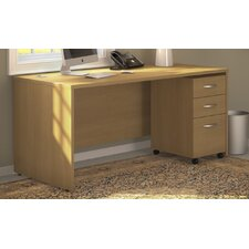 <strong>Bush Industries</strong> Series C Desk with 3 Drawer File