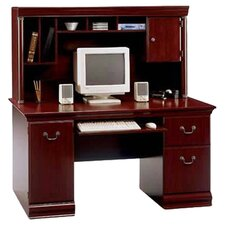 "Birmingham  60"" W Cherry Executive Desk with Hutch"