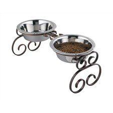 Tall Classic Wrought Iron Dog Feeder