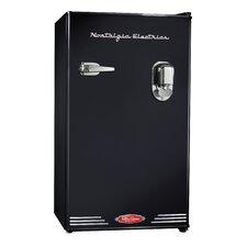 Retro Series 3.0 Cu. Ft. Beverage Dispensing Compact Refrigerator with freezer