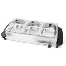 3 Section Mini Buffet Server and Warming Tray