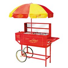 <strong>Nostalgia Electrics</strong> Vintage Carnival Hot Dog Cart with Umbrella