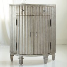 Melange Fluted Demilune 1 Drawer Chest