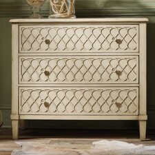 <strong>Hooker Furniture</strong> Melange Raised Lattice 3 Drawer Front Chest