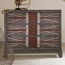 Melange Union Jack 3 Drawer Chest