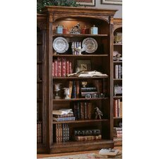 "Brookhaven 82"" H Open Bookcase in Medium Clear Cherry"
