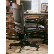 <strong>Hooker Furniture</strong> High-Back Ridge Office Chair with Arms