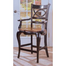 "<strong>Hooker Furniture</strong> Preston Ridge 25.25"" Bar Stool with Cushion"