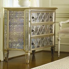 Sanctuary 3 Drawer Diamond Front Dresser