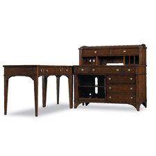 Abbott Place L-Shape Credenza Printer Desk Office Suite