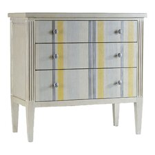Melange Shimmer and Stripe 3 Drawer Chest