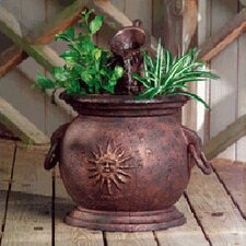 Copper Kettle with Planter Fountain